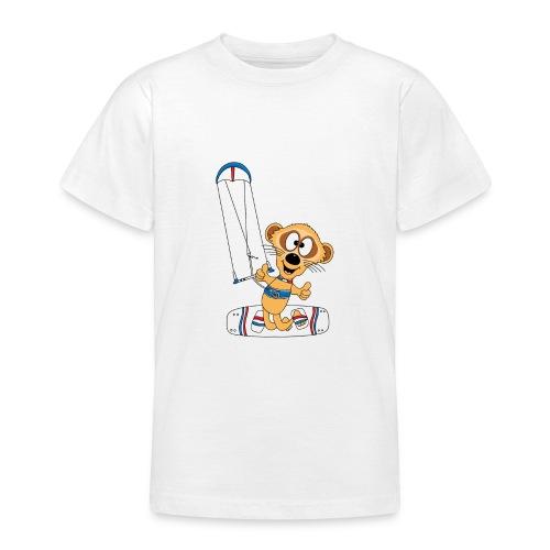 Lustiges Erdmännchen - Kite - Kitesurf - Kiter - Teenager T-Shirt