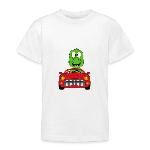 Lustiger Gecko - Echse - Auto - Cabrio - Car - Fun - Teenager T-Shirt