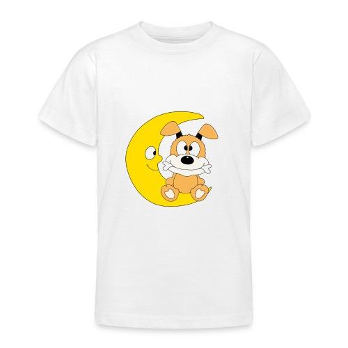 Lustiger Hund - Dog - Knochen - Mond - Tier - Teenager T-Shirt