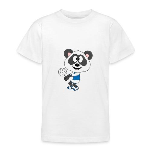 Lustiger Panda - Bär - Volleyball - Sport - Fun - Teenager T-Shirt
