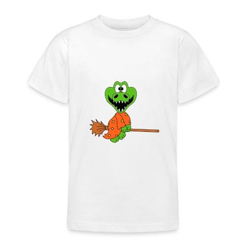 Lustiges Krokodil - Hexe - Kind - Baby - Fun - Teenager T-Shirt