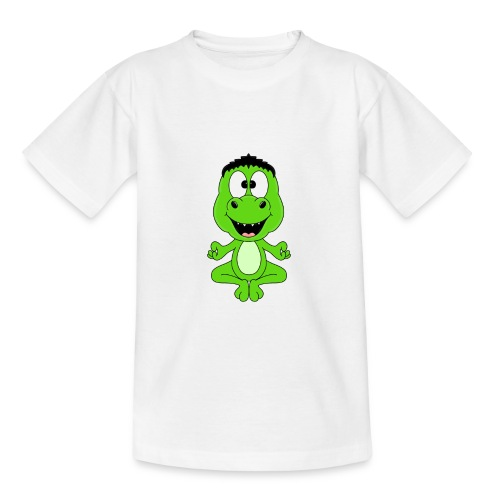 Lustiger Dino - Dinosaurier - Yoga - Chill - Relax - Teenager T-Shirt