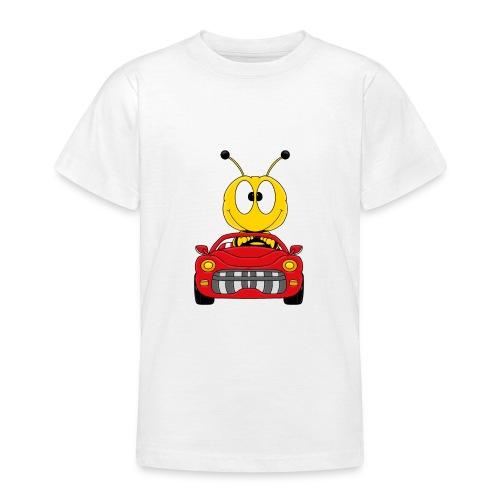 Lustige Biene - Auto - Cabrio - Tier - Fun - Teenager T-Shirt