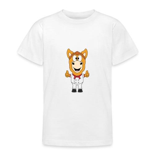 Lustiges Pferd - Pony - Bäcker - Koch - Fun - Teenager T-Shirt