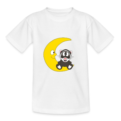 Lustiges Frettchen - Mond - Kind - Baby - Fun - Teenager T-Shirt
