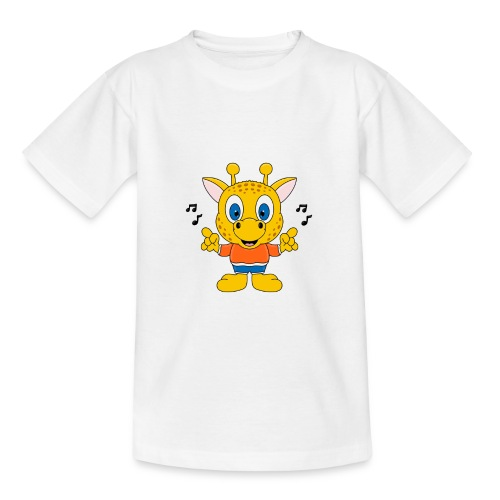 Lustige Giraffe - Musik - Tier - Kind - Baby - Fun - Teenager T-Shirt