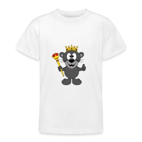 Lustiger Panther - König - Königin - Tier - Kind - Teenager T-Shirt