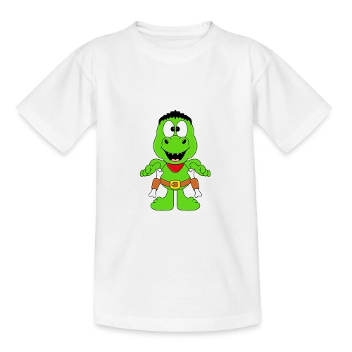 Lustiger Dino - Dinosaurier - Cowboy - Western - Teenager T-Shirt