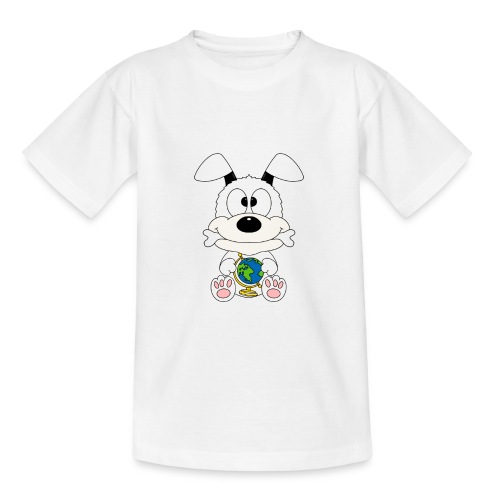 Hund - Erde - Welt - Globus - Tier - Kind - Baby - Teenager T-Shirt