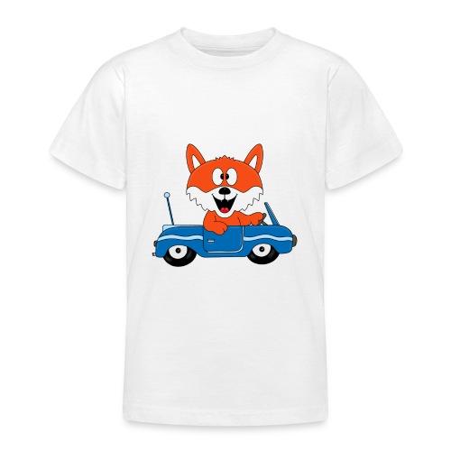 Fuchs - Auto - Cabrio - Tier - Führerschein - Fun - Teenager T-Shirt