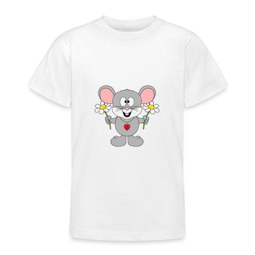 Maus - Blumen - Garten - Gärtner - Liebe - Love - Teenager T-Shirt