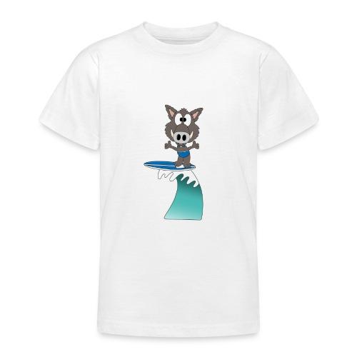 Wildschwein - Welle - Surfer - Wellenreiter - Teenager T-Shirt