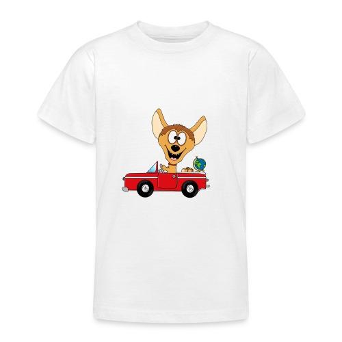 Hyäne - Auto - Reise - Urlaub - Tierisch - Fun - Teenager T-Shirt
