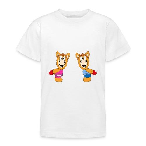 Pferde - Ponys - Reiten - Herzen - Liebe - Love - Teenager T-Shirt