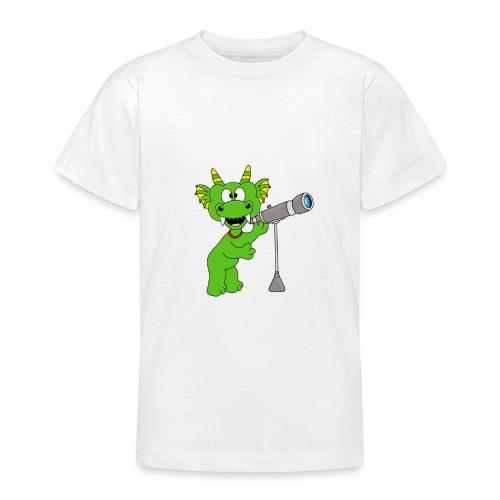 Drache - Teleskop - Astronom - Sterne - Kinder - Teenager T-Shirt