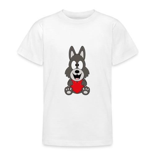 Wolf - Herz - Liebe - Love - Tier - Kind - Baby - Teenager T-Shirt