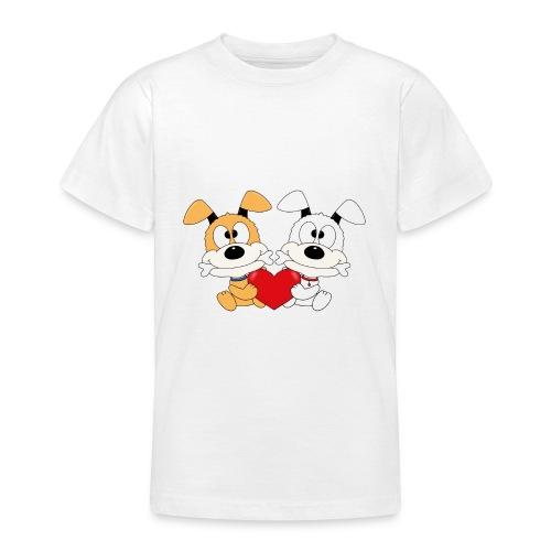 Hunde - Herz - Liebe - Love - Kind - Baby - Tier - Teenager T-Shirt