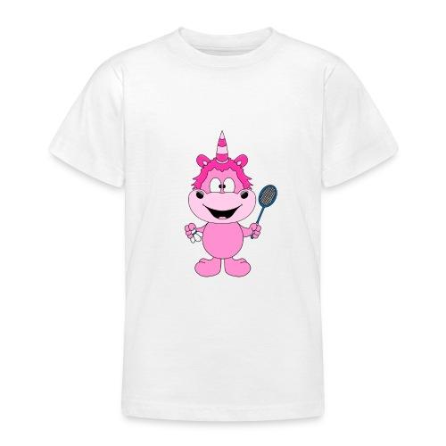 Einhorn - Badminton - Federball - Sport - Kind - Teenager T-Shirt