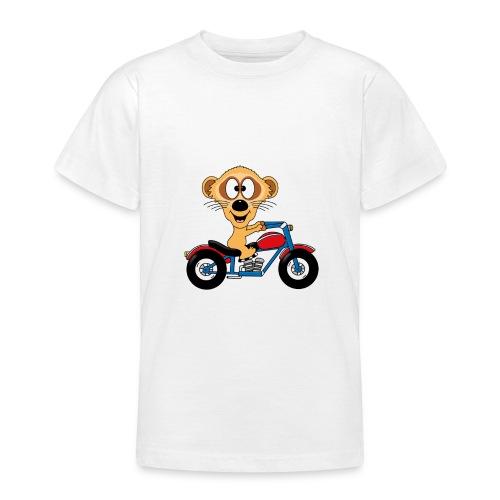 Erdmännchen - Motorrad - Biker - Kind - Baby - Teenager T-Shirt