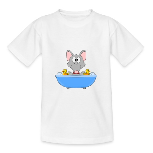 Ratte - Badewanne - Kind - Baby - Tier - Fun - Teenager T-Shirt