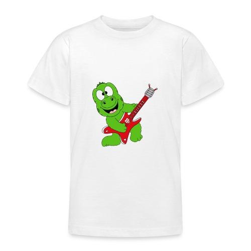Gecko - Echse - Musik - Gitarre - Liebe - Fun - Teenager T-Shirt