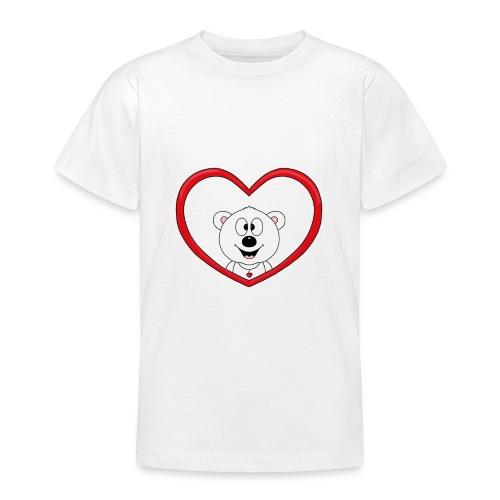 Eisbär - Bär - Teddy - Herz - Liebe - Love - Fun - Teenager T-Shirt