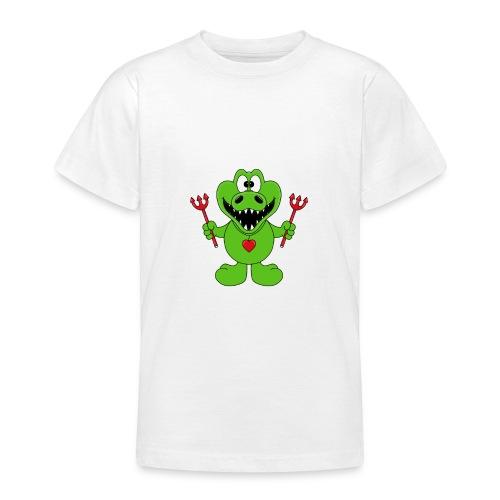 Krokodil - Teufel - Kind - Baby - Tier - Fun - Teenager T-Shirt