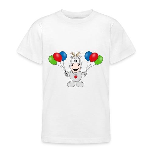 Ziege - Luftballons - Geburtstag - Party - Tier - Teenager T-Shirt