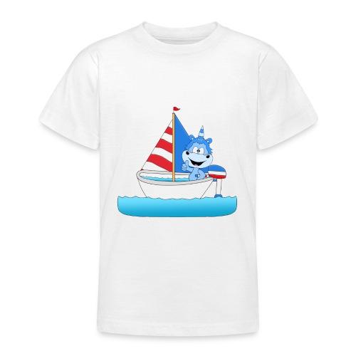 Einhorn - Segeln - Boot - Schiff - Kapitän - See - Teenager T-Shirt