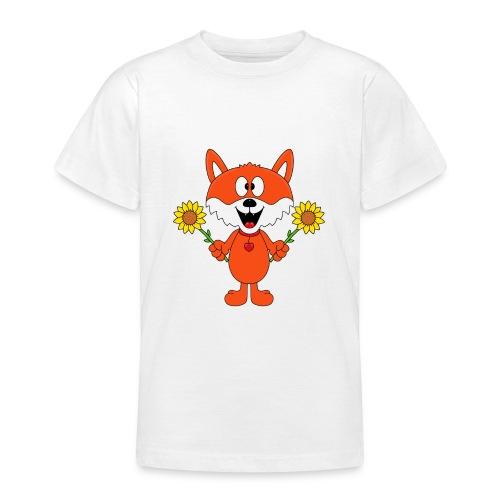 Fuchs - Sonnenblumen - Kinder - Tier - Baby - Teenager T-Shirt
