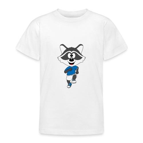 Waschbär - Joggen - Laufen - Sport - Tier - Teenager T-Shirt
