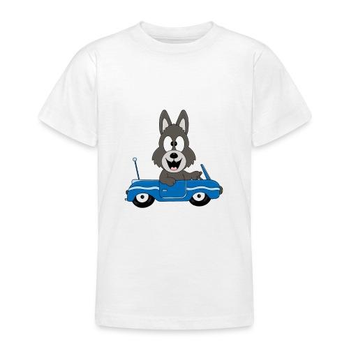 Wolf - Auto - Cabrio - Führerschein - Fahrschule - Teenager T-Shirt
