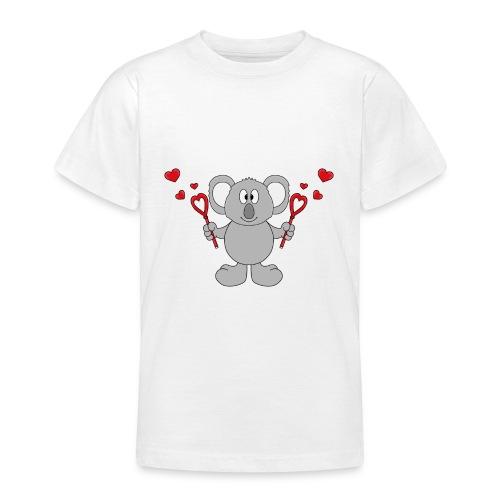 Koala - Bär - Seifenblasen - Herzen - Liebe - Love - Teenager T-Shirt