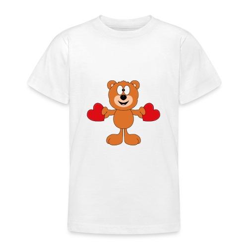 Teddy - Bär - Herzen - Liebe - Love - Tier - Teenager T-Shirt