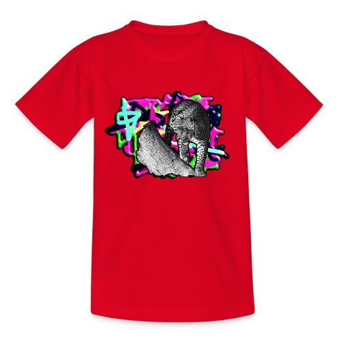 Leopard auf Bunt - Teenager T-Shirt
