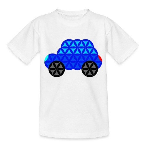 The Car Of Life - M01, Sacred Shapes, Blue/R01. - Teenage T-Shirt