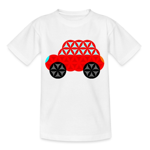 The Car Of Life - M01, Sacred Shapes, Red/R01. - Teenage T-Shirt