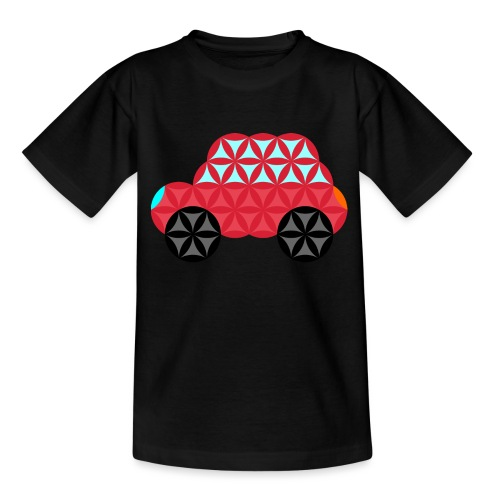 The Car Of Life - M02, Sacred Shapes, Red/186 - Teenage T-Shirt