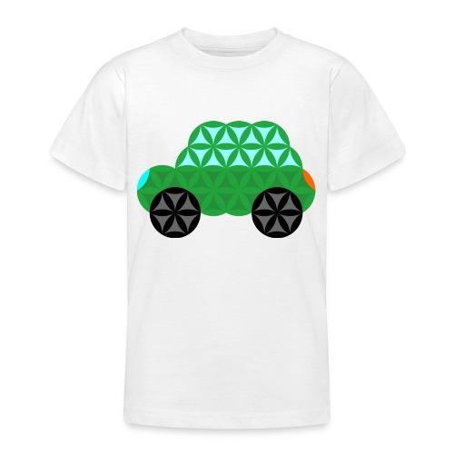 The Car Of Life - M01, Sacred Shapes, Green/363 - Teenage T-Shirt