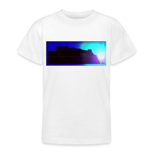 Silhouette of Edinburgh Castle - Teenage T-Shirt