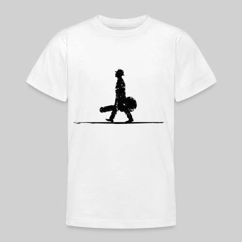 Schwarz ohne Schrift - Teenager T-Shirt