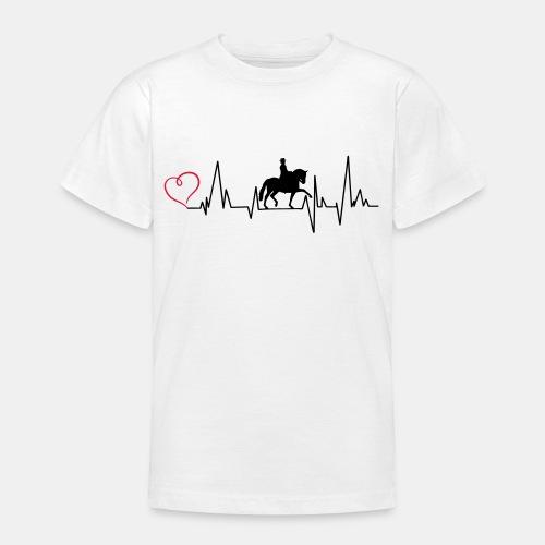 Heartbeat Dressurreiterin klassisch Herz - Teenager T-Shirt