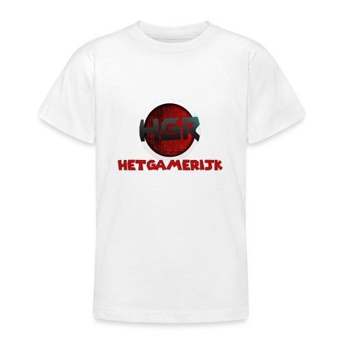 logo + tekst! - Teenager T-shirt