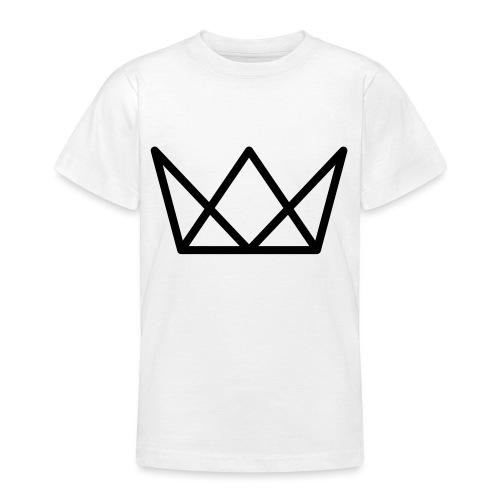 TKG Krone schwarz CMYK - Teenager T-Shirt