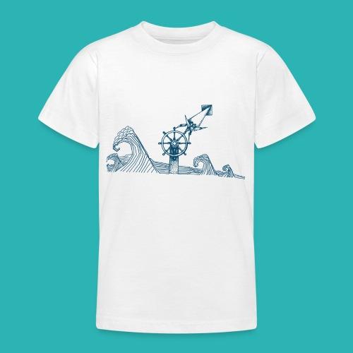 Carta_timone_blu-png - Maglietta per ragazzi