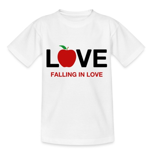 Falling in Love - Black - Teenage T-Shirt