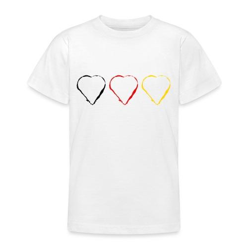 3 Herzen Deutschland #1 - Teenager T-Shirt