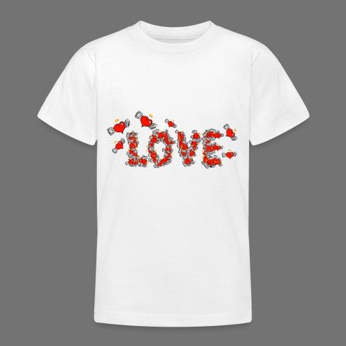 Flying Hearts LOVE - Teenage T-Shirt