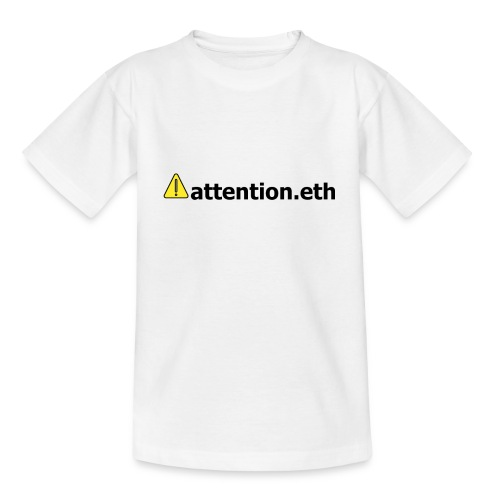 ⚠attention.eth - Teenager T-Shirt
