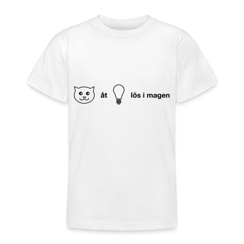 Katt åt lampa - T-shirt tonåring